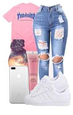 A fashion look from March 2017 by pimpcessjayyy featuring Révérence de Bastien and adidas Originals Swag Outfits For Girls, Cute Outfits For School, Teenage Girl Outfits, Cute Swag Outfits, Cute Comfy Outfits, Teenager Outfits, Dope Outfits, Teen Fashion Outfits, Trendy Outfits