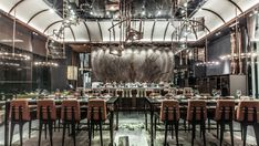 With just 3 years in the design world and an award-wining project from Interior Design Magazine, WANG designs have certainly made their existence known. We have chosen one of their most meaningful projects to share with you. AMMO restaurant Hong Kong.