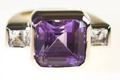 Image result for amethyst dress rings