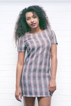 ** O U T F I T O F T H E D A Y ** Our brand new Lillian Prince Of Wales Check Shift Dress is easy to wear and instantly gorgeous!  Get yours now by visiting our website >> www.girlinmind.com/new/lilian-grey