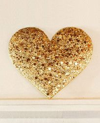 Gold Sequin Heart Installation