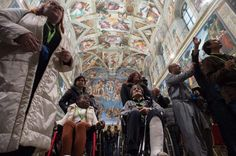 Pope Francis pays a surprise visit to a homeless group's tour of the Vatican  http://buff.ly/1HTj9ek
