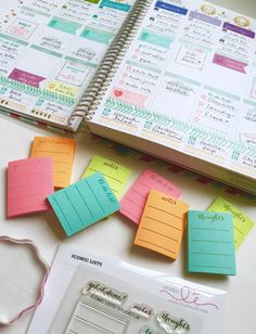 So many planner ideas for using Studio L2E Stamps!
