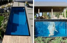 pools made from shipping containers | This Shipping Container Pool Is The Coolest New Trend If You Have The ... Swimming Pool Parts, Swimming Pools Backyard, Swimming Pool Designs, Shipping Container Swimming Pool, Shipping Container House Plans, Shipping Containers, Tulum, Building A Pool, Container House Design