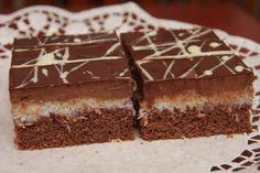 Čokoládovo - kokosové rezy - Recept pre každého kuchára, množstvo receptov pre pečenie a varenie. Recepty pre chutný život. Slovenské jedlá a medzinárodná kuchyňa