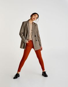 Pull&Bear - mujer - ropa - denim collection - pantalón push up - naranja quemado - 09681321-V2018