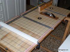 Mesa multifunción casera de carpintería
