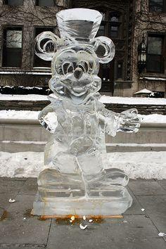 Escultura de gelo, Mickey Mouse.
