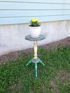 Shabby Chic Decor - Plant Stand - Wooden Plant Stand - French Country Decor…