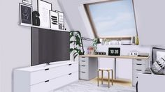 New office set at MXIMS • Sims 4 Updates