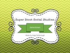 Super Scoot Social Studies: Jamestown Fun Social Studies Game -- 5th grade social studies.