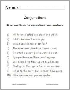 Beginning Esl Worksheets St Grade Math And Literacy Worksheets For February  Worksheets  Distributive Property Worksheets 6th Grade Pdf with Holiday Worksheets For Kindergarten Word Circle The Conjunctions Worksheet For Grade One  Free To Print Pdf Grammar  Worksheetslanguage  Weather Worksheets For 2nd Grade Pdf