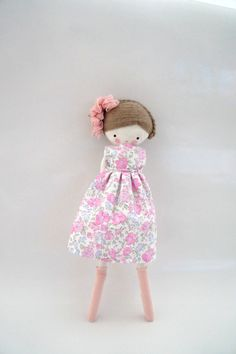 Saray handmade rag doll cloth doll with by lassandaliasdeana