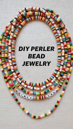 diy jewelry for kids Throws pillows candles baskets are great items for winter decor. Diy Bracelets Easy, Handmade Bracelets, Handmade Jewelry, Colorful Bracelets, Diy Bracelets With Beads, Kids Bracelets, Pulseras Kandi, Diy Perler Beads, Diy Crafts Jewelry