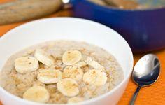 Banana & cinnamon porridge. A healthy & tasty way to start an autumn day