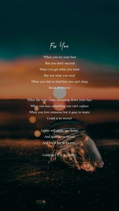 """""""Fix You"""" - Coldplay Frases Coldplay, Coldplay Lyrics, Music Lyrics, Style Lyrics, Fix You Coldplay, Song Lyrics Wallpaper, Bts Lyric, Summer Quotes, Texts"""