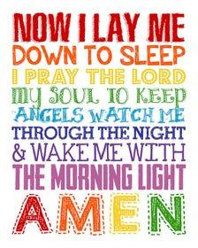 Now I Lay Me Down to Sleep Sign. Bedtime Prayer. Childrens | Etsy