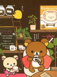 Rilakkuma and friends ♡ Rilakkuma Wallpaper, Kawaii Wallpaper, Sanrio Characters, Cute Characters, Kawaii Drawings, Cute Drawings, Cute Images, Cute Pictures, Kawaii Art