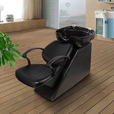 Erfect Backwash Chair Salon Bowl Shampoo Equipment Sink Unit Double Drain Beauty Stylist Station