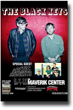 Black Keys Poster - Concert Promo Flyer - 2012 Maverick