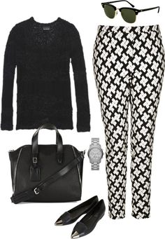 """inspired black and white outfit"" by hayleycarbran ❤ liked on Polyvore"