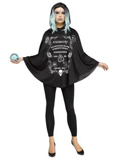 Ever So Popular Adult Spirit Board Poncho Costume. Beautiful Selection of Scary, Gothic & Vampire Costumes for Halloween at PartyBell.