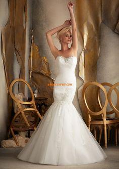Salle intérieure Robes Blanches Simples Appliques Robes de mariée Designer