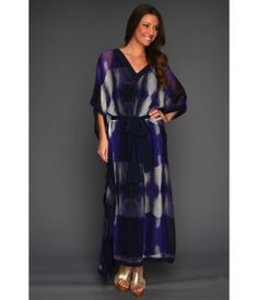 Halston Heritage Three-Quarter Sleeve Caftan Dress