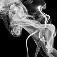 Art.fr - Papier Photo 'Black Smoke Abstract Square' par GI ArtLab