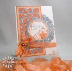 beautiful card with embossing powder and torn pieces of paper to make a mosaic