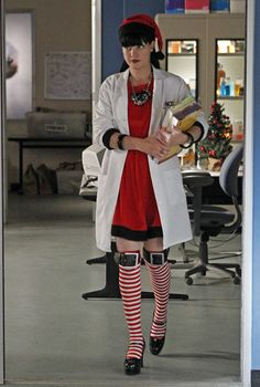 "'Abby's #NCIS Christmas outfit. ""1, 2, Buckle My Sock..."" ' via Pauley's twitpic"