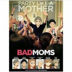 funny haikyuu mom squad
