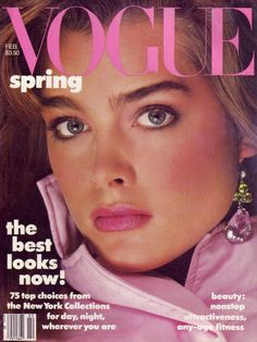 Brooke Shields photographed by Richard Avedon for the cover of Vogue 1985.