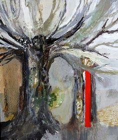 """""""Baum"""" Abstrakte Malerei  www.walburga-schild-griesbeck.de"""