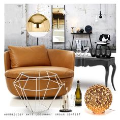 """""""Houseology AW15 Lookbook: Urban Contest"""" by tiziana-melera ❤ liked on Polyvore featuring interior, interiors, interior design, home, home decor, interior decorating, Eichholtz, Moooi, Tom Dixon and Terzani"""