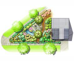 Corner-Lot Landscape Plan