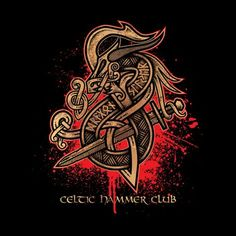 Dragon Slayer (Gold) by Celtic Hammer Club Apparel Celtic Dragon Tattoos, Viking Tattoos, Maori Tattoo Designs, Dragon Tattoo Designs, Viking Art, Viking Symbols, Viking Dragon, Viking Designs, Celtic Designs