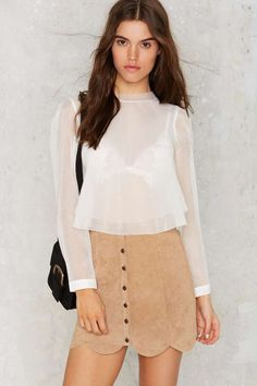 J.O.A. Multi Layer Mode Sheer Blouse | Shop Clothes at Nasty Gal!