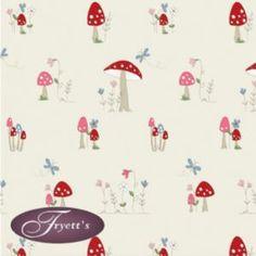 Fryettu0027s 100% Cotton Print PVC TOADSTOOL Vinyl Oilcloth Tablecloth 132cm  Wide