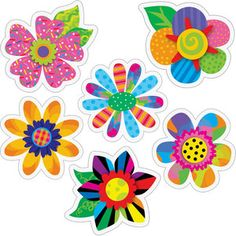 "Poppin' Patterns® Spring Flowers 6"" Designer Cutouts"