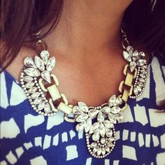 Get this style at J.Crew, Mawi or Lanvin if you can stretch that far. Alternatively Zara or Topshop are doing their own version. And for chunky jewellery on a base budget Forever21 will never let you down....x