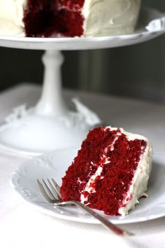 Red Velvet Cake with cream cheese frosting (only made half amount of frosting).