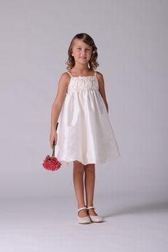Lovely Taffeta Empire Knee-length Flower Girl Dress