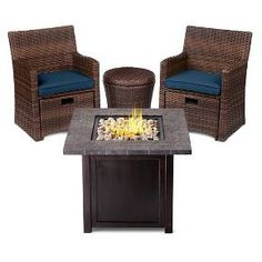 small space patio furniture sets. Halsted 5Piece Wicker Small Space Patio Furniture Set Threshold Target Sets R