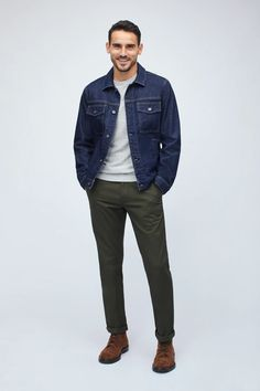 The Stretch Denim Jacket First Date Outfits, Cool Outfits, Casual Outfits, Best Winter Jackets, Denim Jacket Men, Men's Denim, Denim Jackets, Jean Jackets, Denim Trends