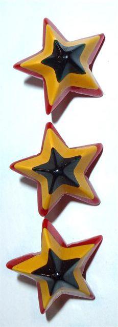 """Fabulous vintage Bakelite star buttons.""  WOWZA!  I agree!!"