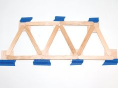 Make A Warren Truss Bridge With Popsicle Sticks