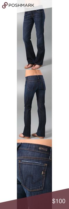 """Citizens of Humanity - The Dita These petite boot-cut jeans feature 5-pocket styling and a single-button closure. Tonal 'h' stitching at back pockets and whiskering at front. Worn spots at edges and mild distressing.  * 8"""" rise. 32"""" inseam. * 98% cotton/2% elastane. * Wash cold. * Made in the U.S.A. Citizens Of Humanity Jeans Boot Cut"""