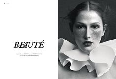 beauty magazine design