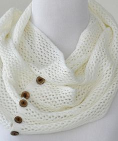 Another great find on #zulily! Ivory Charlee Infinity Scarf by PeekABootSocks #zulilyfinds